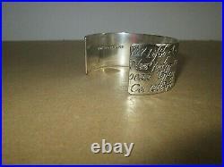 Bracelet manchette TIFFANY & CO en argent massif poinçon 925 de 1997 réglable