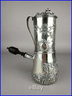 Cafetière Argent Massif XVIIIe Poinçon révolutionnaire French antic silver