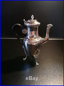 Cafetière argent massif époque Empire, poinçon Coq 2ème titre Paris 1803-1809
