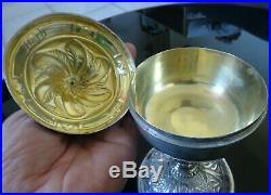 Calice Ancien Argent Massif Et Vermeil / Poincon Vieillard