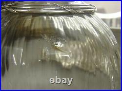 Cardeilhac Paire De Carafes En Argent Massif Poincon Minerve Et Cristal