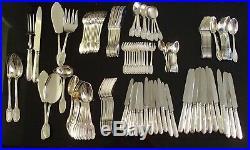 Caron Menagere 141 Pieces Style Empire Argent Massif Poincon Minerve Etat Neuf