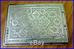 Cigarette box silver, argent massif poinçon iznik ottoman syrianperse 146gr