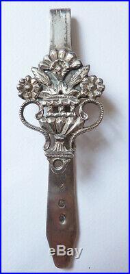 Clavet crochet de chatelaine argent massif 19e s poinçon vieillard silver