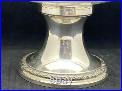 Coupe sur pied argent massif et cristal Baccarat poinçon Minerve France Paris