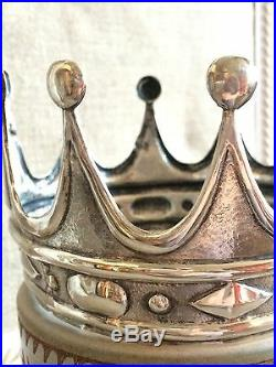 Couronne Silver Crown Vierge Saint XIX Statue France Argent Massif 1819 Poinçon