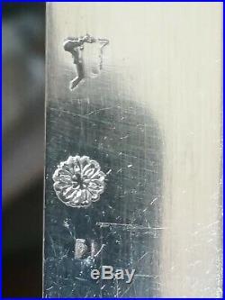 Couteaux Argent Massif 18ème Siècle Époque Louis XV Poinçons Fermiers Généraux