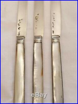 Couteaux Argent Massif et Nacre 18ème Siècles Poinçon Fermiers Généraux