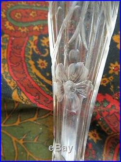 Couvert sangria salade argent massif poincon minerve cristal taillé fleur XIXe
