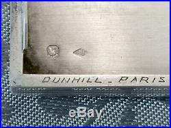 Dunhill Paris Argent Massif Etui A Cigarettes Boite Poincon Minerve