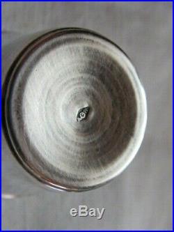 Duo de Curons et Flacon Rubans cristal et argent massif poinçon Minerve 1er