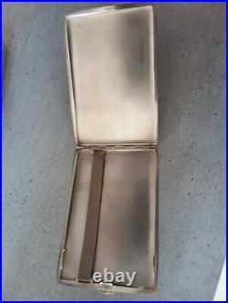 Etui Porte Cigarettes En Argent Massif Poincon Minerve Poids 161 Grammes