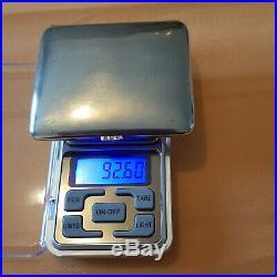 Étui à cigarettes en ARGENT MASSIF 800 voir les 3 poinçons 92,60 grammes