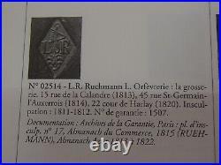 Exceptionnel Legumier Et Chauffe Plat Argent Massif Poincon Viellard Paris 1819