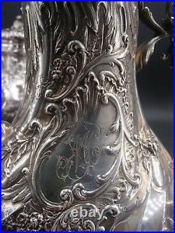 Exceptionnel Service The Cafe 4 Pcs Argent Massif Poincon Minerve Style Louis XV