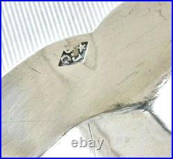 Grand plat argent massif poinçon 1er Coq 1798 1809, avec blason gravé. 810gr