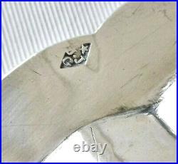 Grand plat en argent massif poinçonné au Coq 1798 1819 avec blason 810 gr