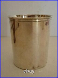 Grande timbale en argent XVIII°. Poinçon époque révolutionnaire. 147 gr