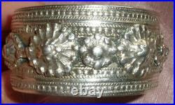 Gros bracelet manchette argent massif fin XIXème Poinçons Minerve 2 & Orfèvre