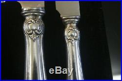 Henin Belle Menagere 172 Pieces Argent Massif Poincon Minerve Decor Louis XV