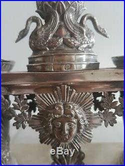 Huilier Vinaigrier Argent Poinçon vieillard époque restauration Empire COMPLET