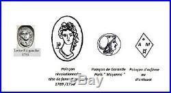 Huilier Vinaigrier Argent massif poinçon révolutionnaire An 1789 XVIIIe