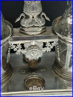 Huilier Vinaigrier en Argent Massif Poinçon paris époque restauration Empire