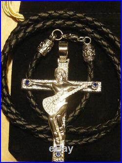 JOHNNY HALLYDAY croix argent massif L'ORIGINAL JOHNNY poinçon neuve 6.5cmX5c