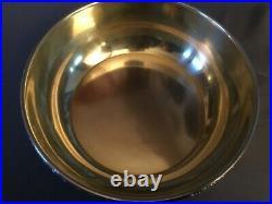 Jatte argent Orfèvre E. PUIFORCAT minerve et poinçon Diam 19,5cm, H 6cm, 360grs