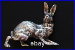 Lievre Argent Massif Poinçon Minerve 347 Grs Heavy Sterling Hare