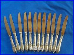 Lot 12 Couteaux Manches Argent Poincon Minerve Emile Puiforcat