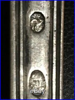 Louche Argent Massif 306 Gr Poincon Coq 1798/1809 Blason Monogramme