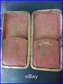 Lunette En Argent Vintage 1838 Poinçon Crabe Verre Blanc Correcteur Rare