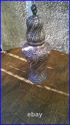 Magnifique ancien brule-parfum en argent massif (poinçon minerve)