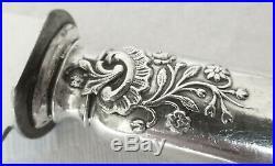 Ménagère 24 couteaux de style Louis XV, ARGENT MASSIF, poinçon MINERVE Lapeyre