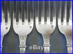 Ménagère ARGENT poinçon Minerve, Ravinet Denfert, 12 fourchettes/12cuillers