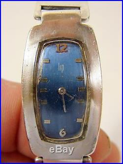 Montre Vintage 1972 Bracelet Rigide Argent Massif LIP Poinçons ref 42497