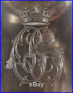 Odiot Rare Sauciere + Interieur 1.2 KG Argent Massif Poincon Minerve Couronne