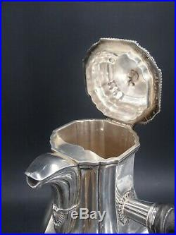 Odiot Rare Service The Cafe 4 Pieces 2.5 KG Argent Massif Poincon Minerve