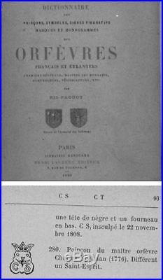 PLAT ARGENT LOUIS XV, XVIIIeme SIÈCLE, ORFEVRE CHARLES SPRIMAN, TOUS POINÇONS