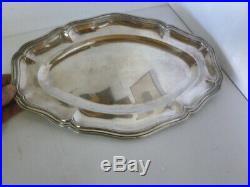 PLAT EN ARGENT MASSIF CAMPENHOUT POINCON MINERVE antique silver