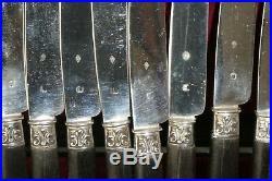 PUIFORCAT 12 COUTEAUX LAMES EN ARGENT POINCON MINERVE et E. P EMILE PUIFORCAT