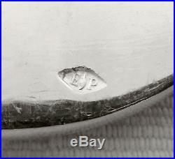 PUIFORCAT 6 fourchettes en ARGENT MASSIF, modèle Pompadour, poinçon MINERVE