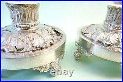 Paire de salerons en cristal et argent massif poinçon Vieillard 1819-1838
