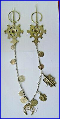 Parure fibules des aures, poincon minerve tunisie algerie berbere120 gr. Ethnique