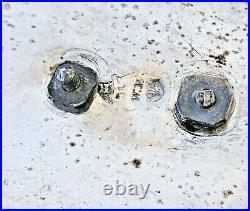Plat de montrance en argent massif poinçon de Berlin, Allemagne XIX ème. 290 gr