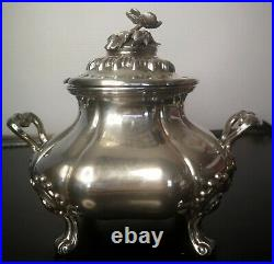 Pot A Sucre Argent 950 Poincon Minerve M. Fray Paris Vers 1850 401 Grammes