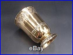 Puiforcat Exceptionnelle Timbale En Vermeil 422 Grs Poincon Minerve Style 18 Eme