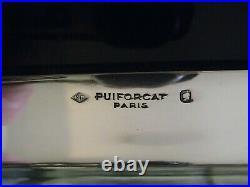 Puiforcat Grand Plateau De Service 3 KG Argent Massif 1er Titre Poincon Minerve