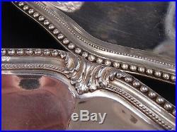 Puiforcat Rare Suite 4 Coupes Presentoirs Argent Massif Poincon Minerve Perles
